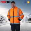 man polar fleece jacket with reflective tapes