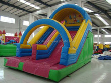 Commercial Tarpaulin Inflatable Sport Games , 9 Meters Length , Slide Slip Safety