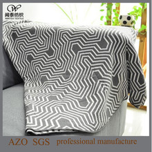 2015 New Fashion 100 Acrylic Woven Jacquard Throw Blanket !