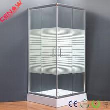 stripe glass Oval simple shower room