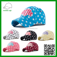 Embroidered letter patch pentacle baseball caps, outdoor sports sun hat