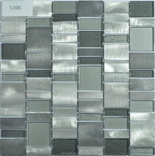 new design luxury glass mosaic wall tiles/textured metal glass mosaic