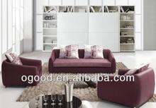 Popular Classic Black Fabrics Leather Sofa Designs