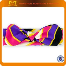 Infant baby cotton stripe dot knot headband Baby purple Hairband Colorful Children Headband