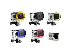 Aluminium Alloy Xiaomi Yi GoPro4 3+ Filter Adapter Ring Full HD 1080P Sport Camera