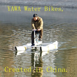 Hot Sell Small Volume Easy Carry PVC Pontoons inflatable Sea Bikes Water Bikes for sale