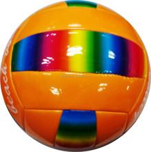 Promotional iridescence cheaper Machine stitched PVC soccer ball