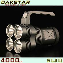 DAKSTAR New Arrival SL4U XML2 U2 4000LM 18650 High Power Aluminum Rechargeable CREE LED Flashlight