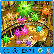 Party/event/club/super market decorative inflatable star with Led light