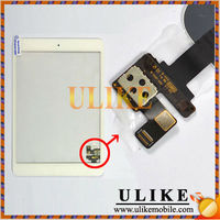 New White Front Panel Touch Screen Glass Digitizer + IC connector for iPad Mini