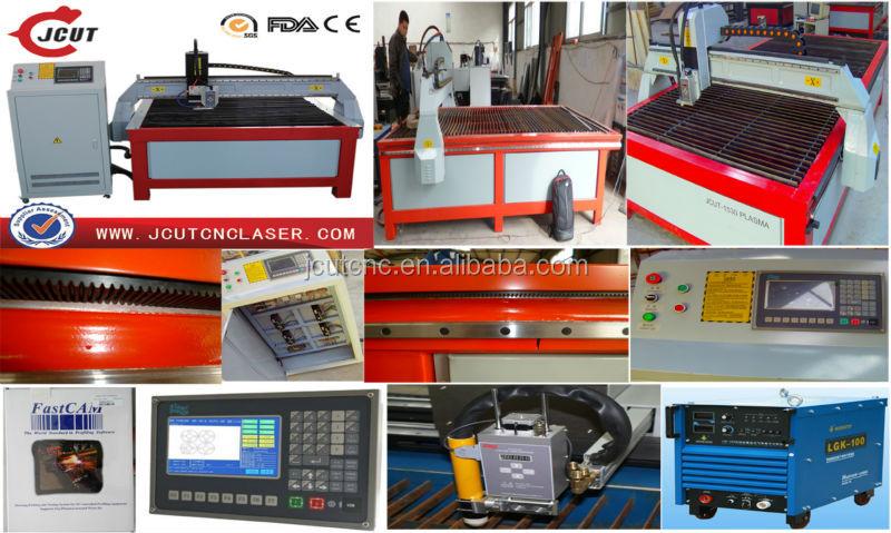 Chapa de aço de Corte/Cortador do Plasma do CNC/Máquina JCUT-1530 Plasma De Corte De Metal