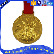 factory price metal gold running medal with ribbon