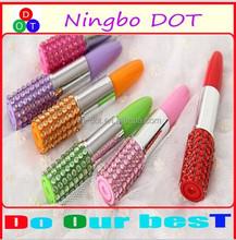 wholesale price Cheap Lipstick Shape ballpoint Pen,Logo Printed