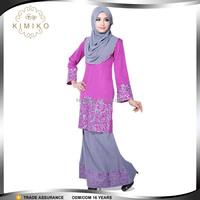 Oem muslim women long dress baju kurung modern embroidery malaysia