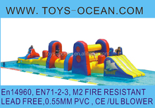 Giant adrenaline rush extreme inflatable obstacle course high quality EN14960