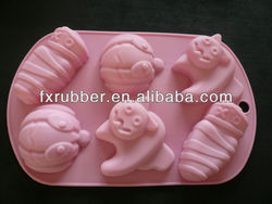 Lovely cute mummy silicone cake mould Chocolate Mould 6 cooking pan cupcake