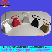 industrial 7*6*7.5cm Manufacturers large colorful Christmas cow square horn bell To ward off bad luck