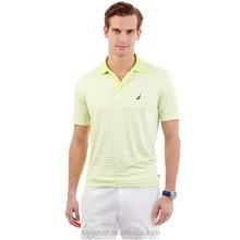 Striped jersey beige polo shirt, Shorts polo shirts in men`s t-shirt