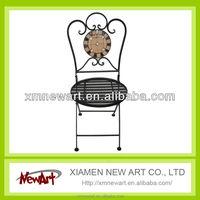 Metal Mosaic Round Massage Chair prayer chair foldable chair