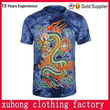 Animal Printing 3d plain t-shirts, Tie Dye Cotton T-Shirts, High Quality Full Printing Sublimated T-Shirt