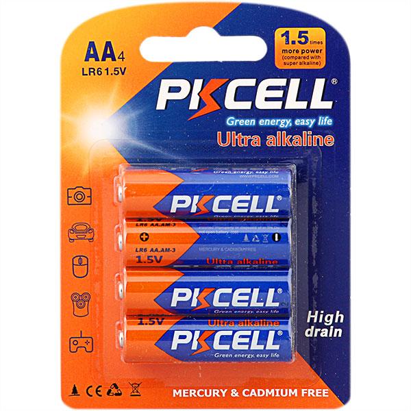 PKCELL AA 1.5 V LR6 AM3 Single Use Pilhas Alcalinas Baterias Primária Seca Da Bateria para MP3, Câmera