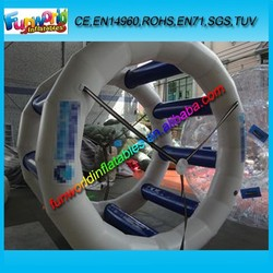 Funworld Commercial Inflatable Water Wheel , Water Inflatable Roller For Sale (FUNWG1-211)