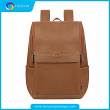 Korea style unisex two sided leather travel shoulder bag, school bag