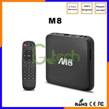 Factory direct Quad S802 4k*2k wifi IPTV Kodi Android4.4 MX8 2GB DDR3 RAM 8GB Nand Flash M8 internet sharing tv box android
