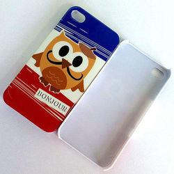 cute cartoon owl case animal design plastic phone cover for iphone 4s PC hard case