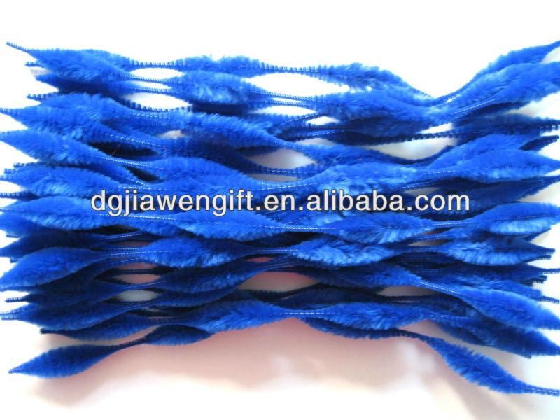 chirstmas decoração azul acidentado <span class=keywords><strong>chenille</strong></span> hastes