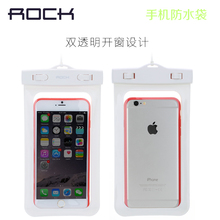 Rock Under Water Phone Bag Swim Diving Pouch Cover For Below 6 Inch Mobile Phone Waterproof Bag For iPhone 6 Plus MT-4157