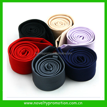 Microfiber fabric pleated necktie