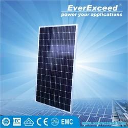 EverExceed High Efficiency Monocrystalline Solar Panel with TUV/VDE/CE/IEC Certificates