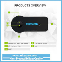 Universal 3.5mm Streaming Car A2DP Wireless Bluetooth AUX Audio Music Receiver Adapter with Mic For Phone MP3