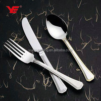 High quality stainless steel party tableware set / restaurant spoon fork knife set / canteen cutlery