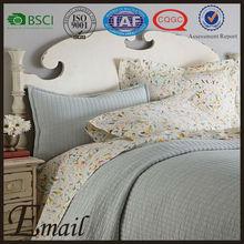Elegant mintcream polyester materical customize quilt european style bedding set