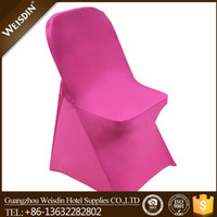 Plain rose red lycra spandex folding plastic chair covers for sale