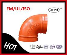 Súper ventas FM UL certificado de lucha contra incendios ranurado 90 Degree codo