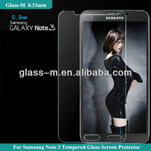 2014 new products screen protector price for samsung note 3 glass material also PET