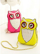 cute owl chain shoulder bag / crossbody bag in bright colors for girls