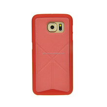 New product leather cover case for galaxy s6 mobile phone wholesale, chrome knuckle case for samsung galaxy s5