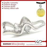 XD C580 925 Sterling Silver Pendants Clasp Jewelry Clasp