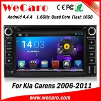 Wecaro touch screen WIFI 3G in dash 2 din dual core android 4.4.4 for kia carens car dvd player radio gps navigation 2006 - 2012