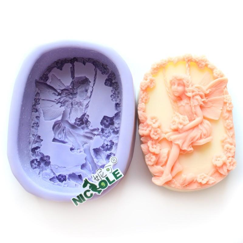 r0562 овальная силиконовая фея мыло плесень
