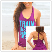OEM Mabufacturer Wholesale 2015 High Quality Women Tank Top Customized Printed LOGO Workout Tank Top Ladies Singlet Tops