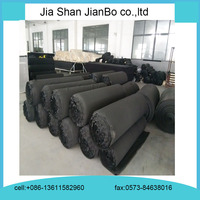 Black foam rubber soundproof insulation roll