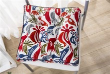 new products 2016 embroidered fabric seat cushion as christmas decorations for office chair