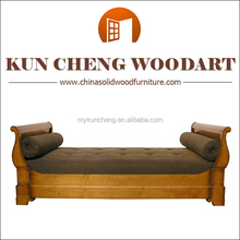 Chinese carved soft wood sofa bed/soft cum bed /luxury solid timber wood bed