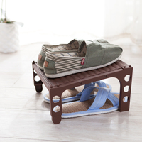 Stylish Useful Compact Mountable and Adjustable Plastic Shoe Rack