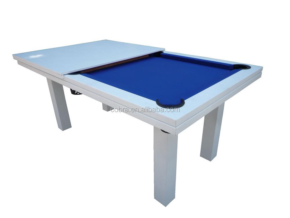 Salle manger top table de billard 7 pieds d ner table de billard 2 en 1 t - Taille table billard ...